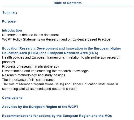 Er Wcpt Evidence Based Physiotherapy Research